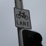 Bicycle lane sign in Sydney