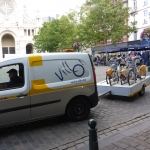 Bike sharing system Villo.be - moving the bicycles