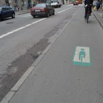 Green wave (20 km/h) for cyclists in Copenhagen