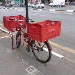 Butcher's cargo bicycle in São Paulo
